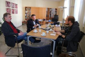 Gespräch mit Bürgermeister Fabian Giesder